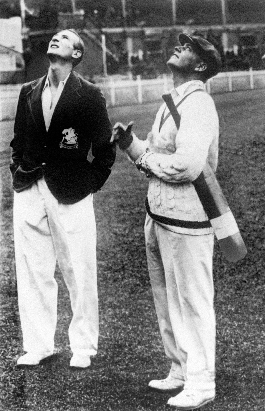 Douglas Jardine and Bill Woodful atthe toss before the Adelaide Test